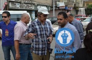 هبوط خط رئيسى للصرف الصحى أمام مول عوض الله الجديد بالمن5صورة
