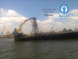 ازالة 59 من الاقفاص السمكية المملوءة بمدينة فوة محافظة كفر الشيخ