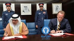 معالي وزير الداخلية خلال توقيع الإتفاقية