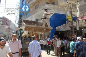 حملة ازالات مكبرة بشوارع وميادين مدينة دسوق